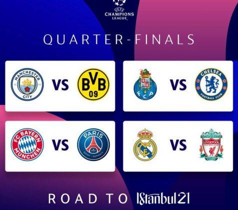 UEFA Champions League Quarter final draw revealed: Real Madrid vs ...